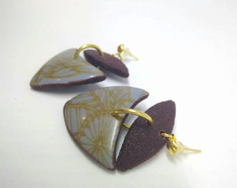 Pendientes arcilla polimérica silk screen