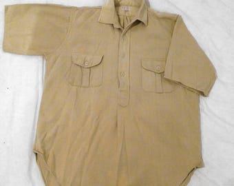 Mens Authentic Safari Style Short Sleeve Small/Medium Shirt