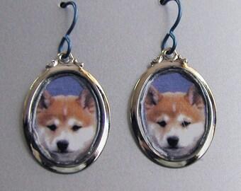 SHIBA INU Dog Love Earrings Custom Available