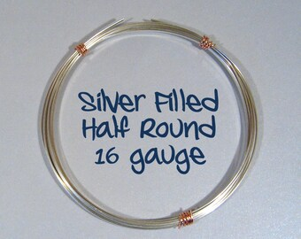 16ga HR DS Half Round Silver Filled Wire - Choose Your Length