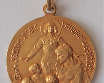 Rare Vintage Medal St. Joan Of Arc