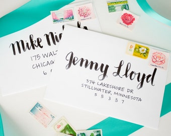 Envelope Calligraphy Addressing | Handwritten Addressing | Handlettered | Wedding Calligraphy | Wedding Envelopes | Invitation Envelopes