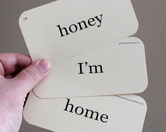 honey I'm home cards only flash cards