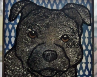 Staffordshire Terrier  Stained Glass Dog Suncatcher JRN71