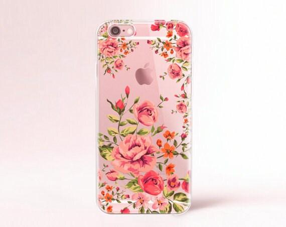 iPhone 8 Plus Case Clear Rubber iPhone 7 case Floral iPhone 8 plus case Rubber iPhone 7 plus case iPhone 6 Case Clear iPhone 6s case Rubber