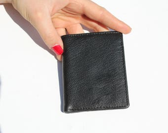 Card Holder Black Leather