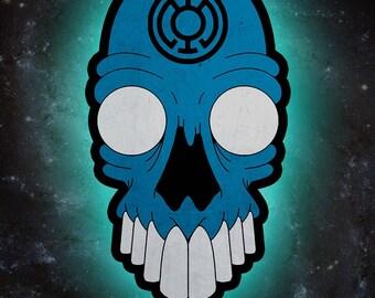 Blue Lantern Corps Skull *PRINT*
