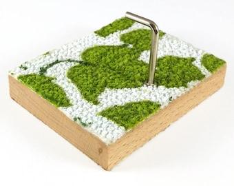 Towel Bar wall hooks made of wood / fabric