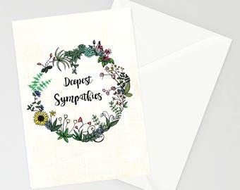 Deepest Sympathies A6 Card (version 2)