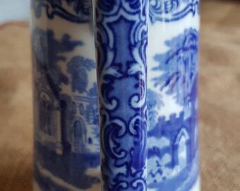 """Early 20th Century Blue and  White """"George Jones & Sons Abbey 1790 Hot Water Pot"""" Made in England"""