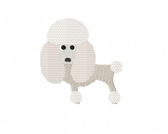 POODLE Embroidery Designs ~ Machine Embroidery Design in 2 sizes - Instant Download ~ Standard Poodle