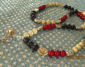 Maiden, Mother, and Crone  Goddess Prayer Beads Triple Moon  #46
