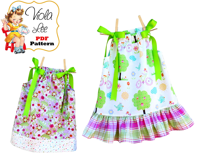 Pillowcase Dress Patterns. Girls Dresses Girls pdf Sewing