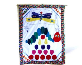The Hungry Caterpillar Custom Baby Quilt Personalized with Name and Date