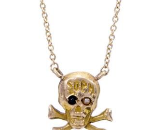 14 Kt.Gold Skull & Bones Necklace
