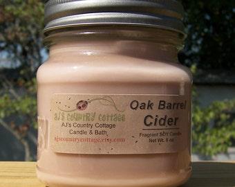 OAK BARREL CIDER SoY Candle - Apple Candles, Cinnamon Candles, Apple Cider Candles, Fall Candles, Autumn Candles, Fall Decor, Autumn Decor