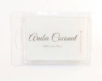 Aruba Coconut Scent 100% Soy Wax Melts Breakaway Tarts Tropical Scent