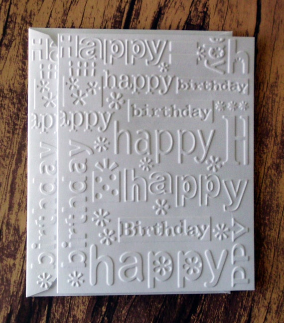 Birthday cards set of 5 white embossed happy birthday card birthday cards set of 5 white embossed happy birthday card pack blank birthday greeting cards embossed birthday gifts flowers cards bookmarktalkfo Gallery