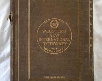 1927 Webster's New International Dictionary with Reference History