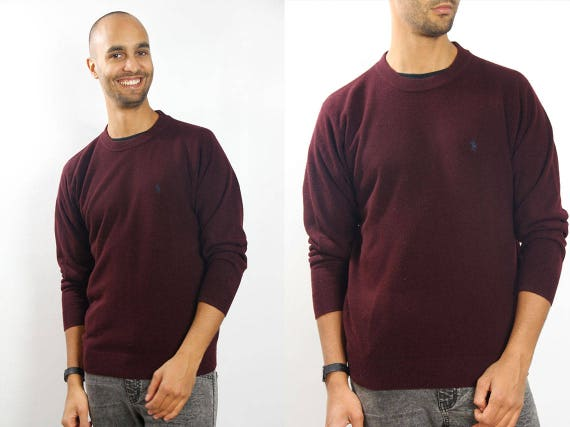 RALPH LAUREN Jumper / Red Sweater / Ralph Lauren Sweater / Wool Jumper / Ralph Lauren Vintage / Ralph Lauren/ YUMMY Vintage
