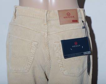 Beige velvet pants. New T 42