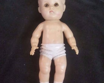 Toys- Vintage 1956 Sun Rubber Doll Nude Boy, Excellent Condition