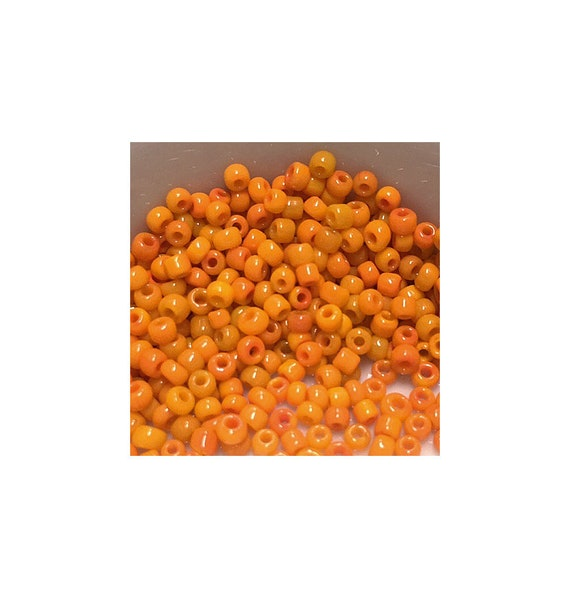 11/0 Shades of Tangerine Mix Seed Beads 5gm