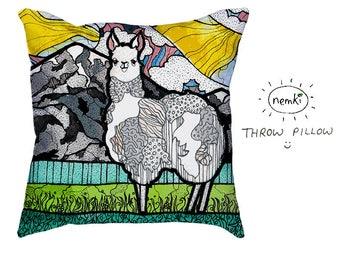 Llama Home Gift, Llama Pillow, Cute Llama Gifts, Llama Birthday Gift, Llama New Home Gift, Llama Design, Pretty Llama Gift,  Llama