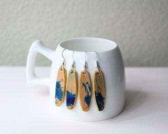 Dangle earrings/ Leather earrings/ statement earrings/ handmade jewelry/ gift for her/ Leather Jewelry/ Unique jewelry/ drop earrings