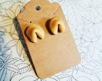 Fortune Cookie Stud Earrings