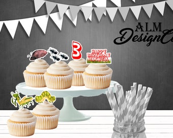 Bug Cupcake Toppers - Bug Birthday Decorations - Bugs Birthday - Bug Birthday Party