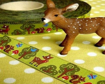 Animal forest 15mm the meter farbenmix Ribbon