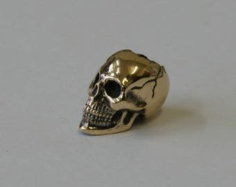 One Solid Bronze Skull bead Studio GD