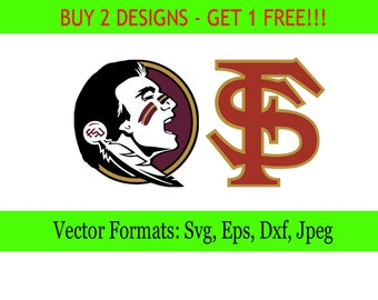 Florida State Seminoles logos in SVG / Eps / Dxf / Jpg files INSTANT DOWNLOAD!
