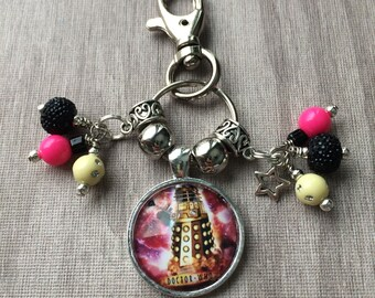 Doctor Who Dalek keychain or bag/purse charm