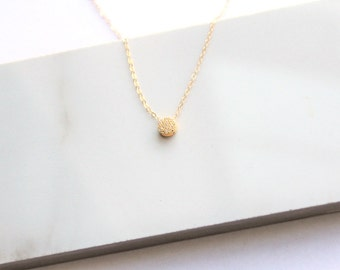 Simple Necklace, Pave Necklace, Crystal Necklace, Bridesmaids Gift, Silver, Rose or Gold Necklace, Gift for Her, The Silver Wren