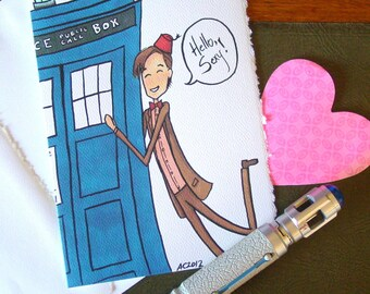 Doctor Who Card - Eleven says Hello Sexy