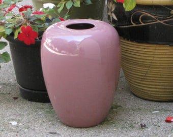 Haeger Pottery Mauve Urn Large Ginger Jar Styled Vase Pink Flower #4435 Haeger Potteries Floor Urns Mid Century Modern Home Decor Potteries