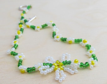 Beaded Daisy Chain Ankle Bracelet