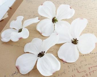 "4"" White Dogwood | Artificial Dogwood | Flower Crown | Wedding | Hair Accessory | Millinery Flowers | Scrapbook Flowers  The Blue Hutch DG54"