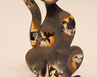 Hand Built one of kind Ceramic Cat