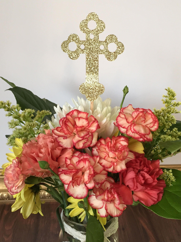 baptism centerpieces first communion centerpieces