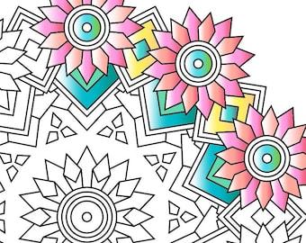 NEW   Mandala Adult Coloring Page