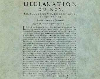 ATC Background French 18th Century King's Declaration - Antique Style Clear Stamp