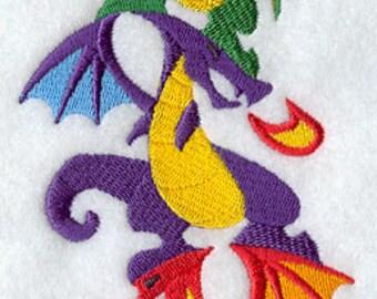 Dragon Stack Embroidered Flour Sack Hand/Dish Towel
