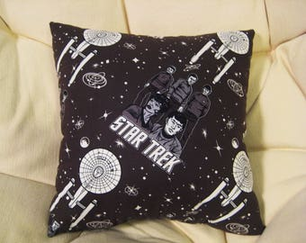 Star Trek Throw Pillow 14x14 Original Series Sci Fi Decor
