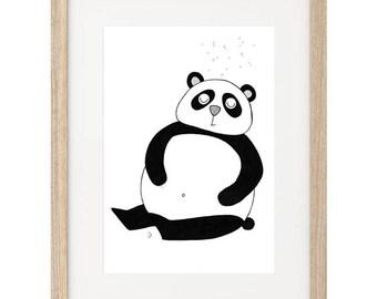 Panda Hand Painted