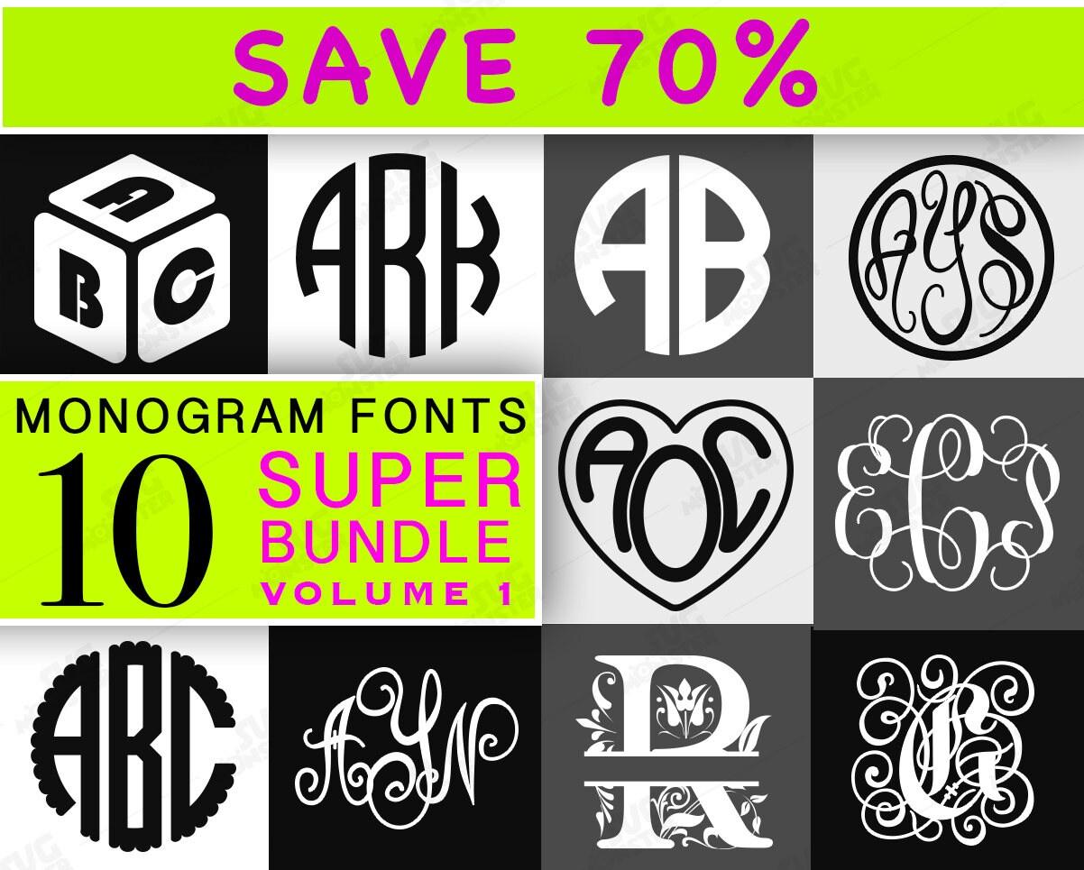 Download MONOGRAM FONT SVG Bundle font bundle svg font bundle cricut