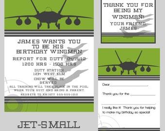 Custom Digital Jet - military - Army - Navy - Air Force - Marines - Birthday Party Custom Digital