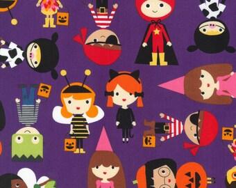 Robert Kaufman Purple Pumpkin Fun Kids Fabric - 1 yard